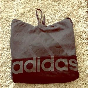 Men's New Without Tags  Adidas Gray Black Hoodie